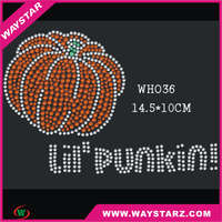 New Stylish Hotfix Rhinestone Motif Christmas pumpkin Design