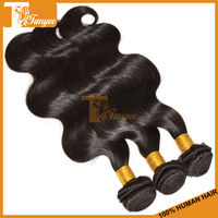Gorgeous Sexy Hot Long Sleek Beach Dye 2pcs/ Set 16 inch 5A Body Wave Weave Natural Color Malaysian Remy Virgin Hair Extension