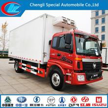 New diesel type refrigerated trucks trailers 4*2 refrigerated van 6 wheels refrigerated van and truck