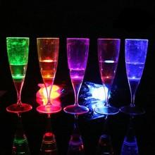 LED Lighting Glow Champagne Glass