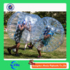 0.7mmTPU/1.0mm TPU Inflatable human soccer bubble Loopy ball with comfortable handles and belts