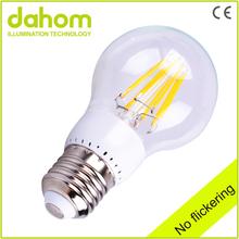 Clear Glass 170V-250V 8W LED Filament Bulb E27 Decorative Filament Light bulbs