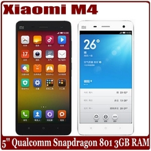 Original XIAOMI MI4 M4 Smartphone 3GB 16GB Snapdragon 801 2.5GHz 5.0 Inch 1920X1080P JDI FHD Screen GLONASS IR Mobile Phone