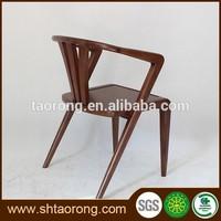 Modern restaurant walnut solid wood design dining chair for sale