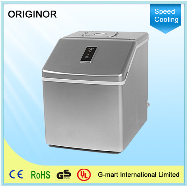 Silver Portable Ice Maker Ice Making Machines For The Home