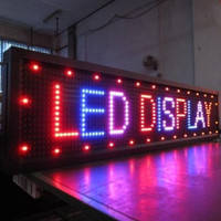 Outdoor waterproof IP65 new hight red color led scrolling bar display message sign p10 from factory