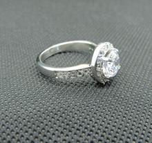 latest design 2015 classic elegant CZ setting diamond wedding ring for women