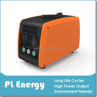 Portable AC & DC Power Supply with built-in lithium battery (Orange)