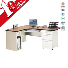 durable modern executive table office desk supply / high tech executive office desk / l type steel office table