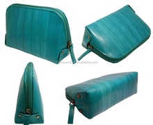 Wholesale Leather Zippered Cosmetic Case / Makeup Bag