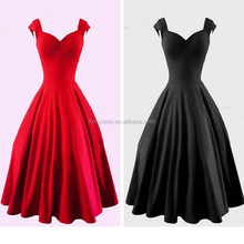 Good sales long puffy prom dresses ball gown girl dresses red long