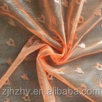 100% polyester Heart Shape jacquard mesh fabric for garment lining