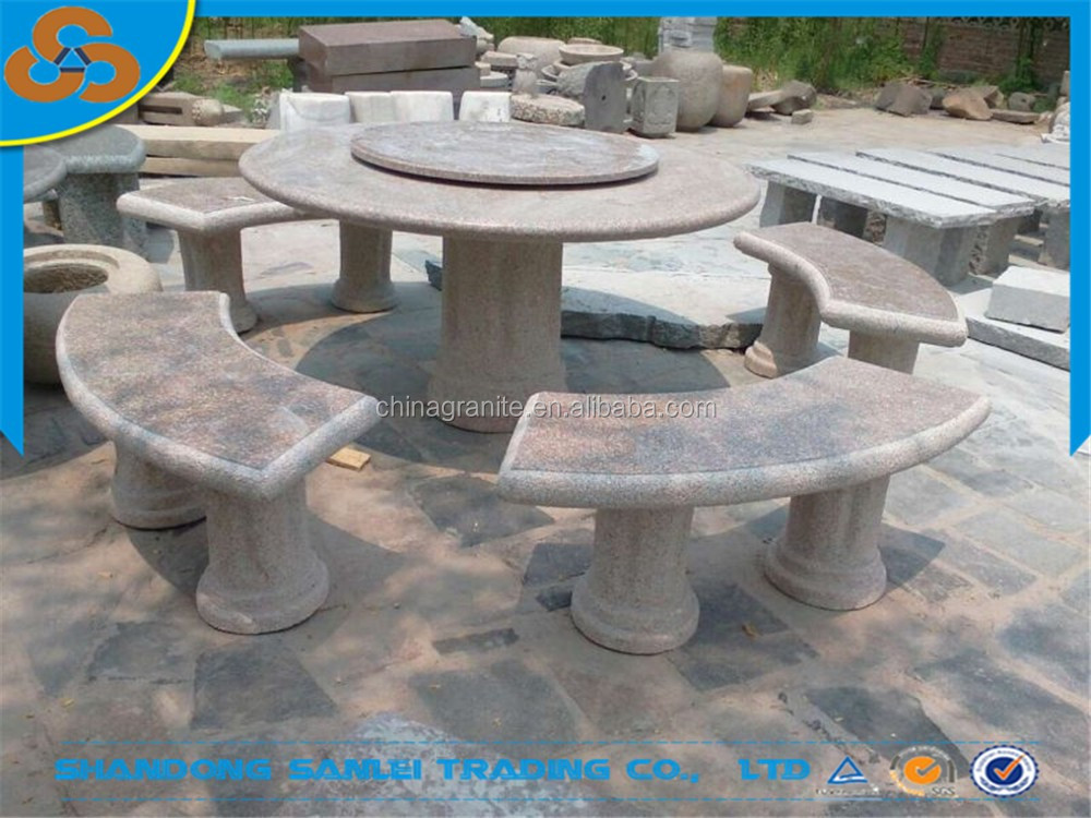 Restaurante muebles de jardín mesa de piedra y un banco para la ...