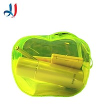 New 2016 Green Color Cute Clear PVC Mini Cosmetic Bag with an Fruit Style