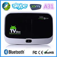 china wholesale CS918S Android 4.2.2 Quad Core TV Box Allwinner A31 2GB + 16GB 5.0MP Camera Bluetooth 4.0 + Remote Controller