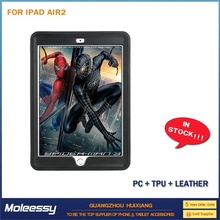 Cool and greative portable leather case for ipad air