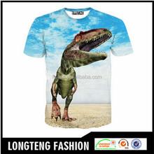 OEM handsome personalized big image animal short sleeve t shirt