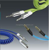 2015 Flowing light aux led light aux audio cable for headphones