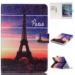 Flower PU Leather Tablet Cover for iPad Mini 4 Case Customized Colorful Print Wallet