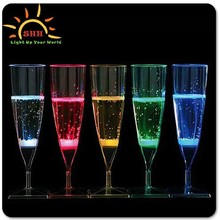 2015 hot bar accessary wholesale glow champagne glasses led, light up champagne flute