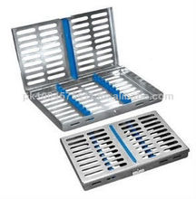 qualiity alta dental esterilización de cassette de rack bandeja de caja para 20 instrumentalquirúrgico