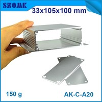 hot selling aluminium extrusion box powder enclosure which can be anodizing and customized