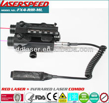 Military red laser with infrared laser combo tactical gear