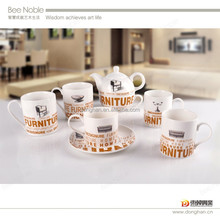 top quality coffee set porcelain factory directly made in china,