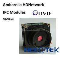 HD digital MP Ambarella CCTV security OEM ip cam module with WIFI,SD,PoE