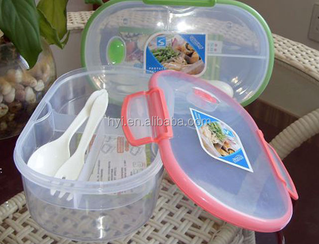 school kids two layers in three parts with fork and spoon food container