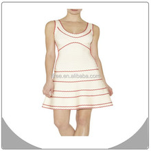 Classic bandage charming a line white girl dress