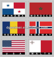 Country Flags Temporary Face Tattoos