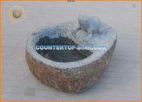 natural carved stone garden birdbath
