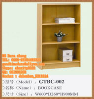 Particle board/MDF material KD Design wooden bookcases