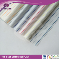 woven 100%polyester linng fabric for suit clothing garment fabric textile china woven polyester sleeve lining fabric