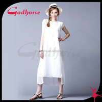 White Embroidered Girls' Dress Made in China
