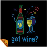 Shenzhen Uniflying Wine Glass Crystal Hotfix Motif Manufacturer