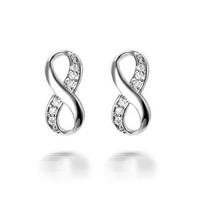 2015 Copper Alloy 18k Infinity Fancy Stud Earring