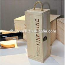Recycled Materials and Wooden boxes for wine buy