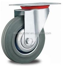 "3""4""5""6""8""10"" swivel/rigid/brake grey rubber industrial caster I002"