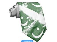 2015 different style fashion Pakistan flag tie promotion