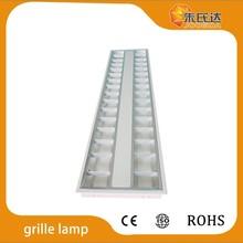 T5 ceiling grill light fixture 2x14W IN MIRROR ALU