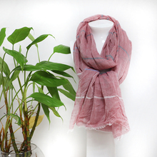 Fashion design custom solid color plain fold have a stock 100% cotton pashmina shawl scarf