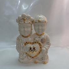 EF319 Chinese Gold painted Fashion luxury modern ceramic craft wedding giveaway gift