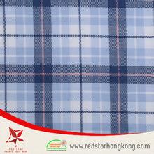 Blue checks drapery fabrics