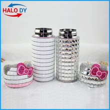 Newest design stainless steel baby thermo bottles with pp cat shaped head