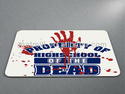 Property of Highschool of the Dead Mouse Pad ANTI-SLIP MOUSEPAD MAT Thick Anime