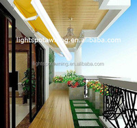 Outdoor aluminum canopy retractable sun shade awning
