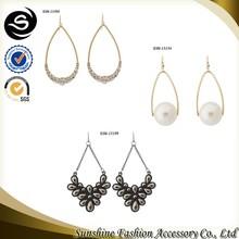 Love pandant earring gold chain pendant earring fashion custom pendant jewelry