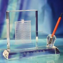crystal pen holder,luxury crystal brush pot,k9 glass crystal brush pot